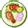 Small icon showing a meal on a plate
